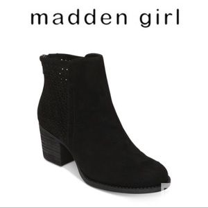 New!  Madden Girl Black Fayth Booties